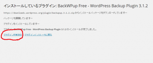 BackWPup-install-active